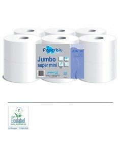 Carta Igienica Jumbo Super Mini 180mt x12pz